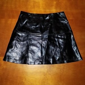 Guess faux leather black mini skirt size 6